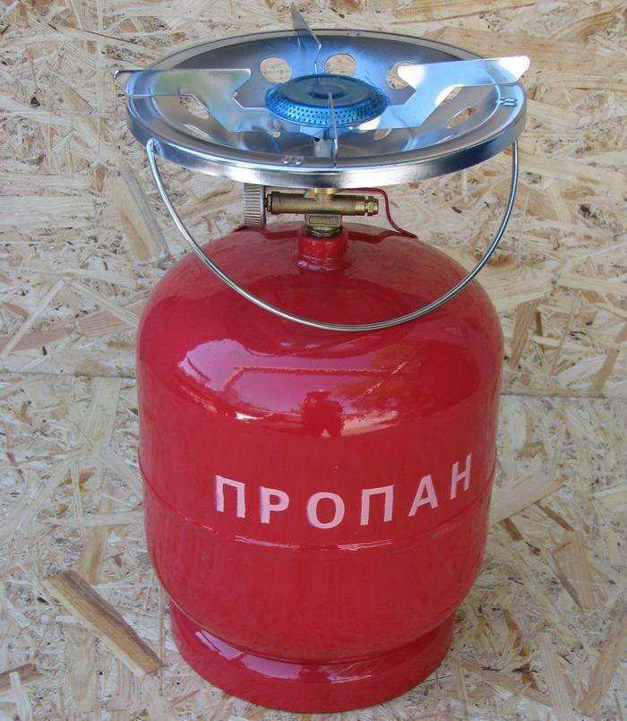 """Газовый баллон туристический 8 л """"Пикник"""". Газовый комплект 8 л"""
