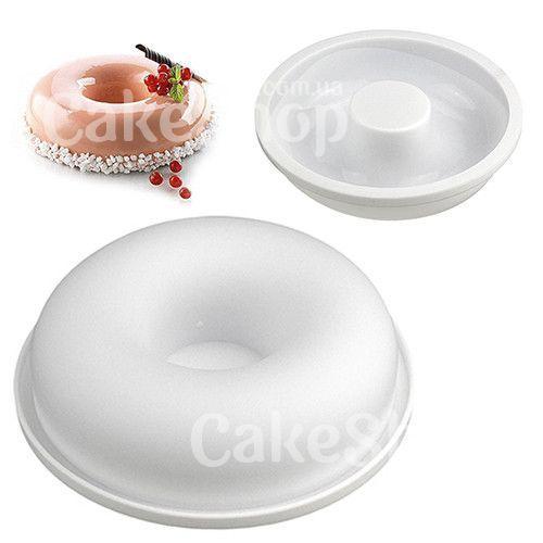 Силіконова форма для мусів та желе Пончик, 19,5х4,5 см