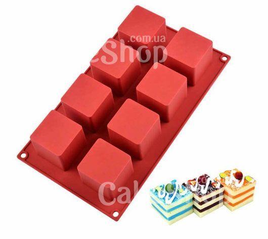 Силиконовая форма Куб 8 штук