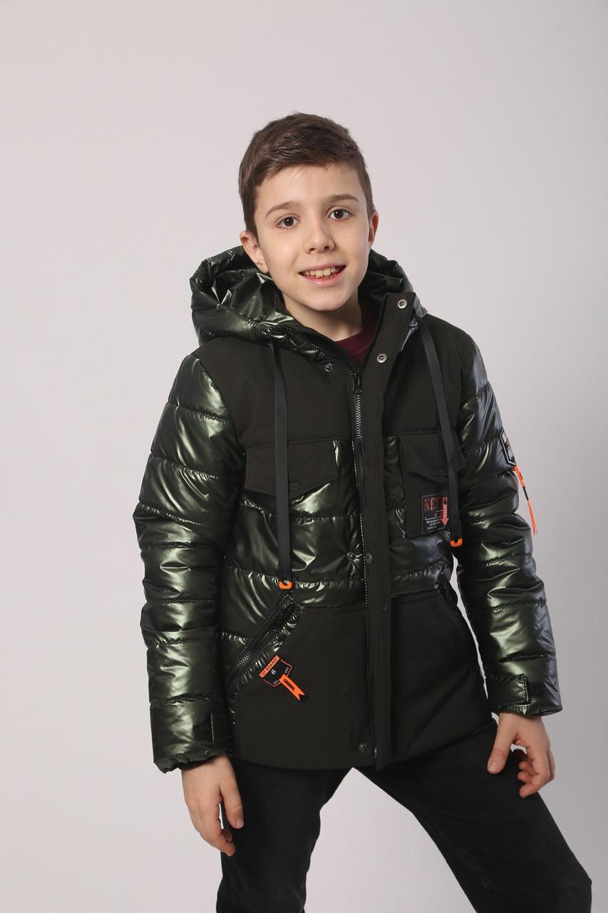 Демисезонные куртки для мальчика  128-152 хаки