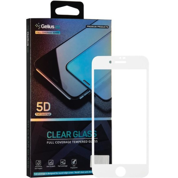Защитное стекло Gelius Pro 5D Clear Glass для Apple iPhone 7/8 White