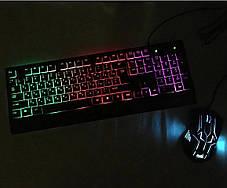 Клавиатура + Мышь с Подсветкой Набор Для Компьютеров и Ноутбуков, фото 3