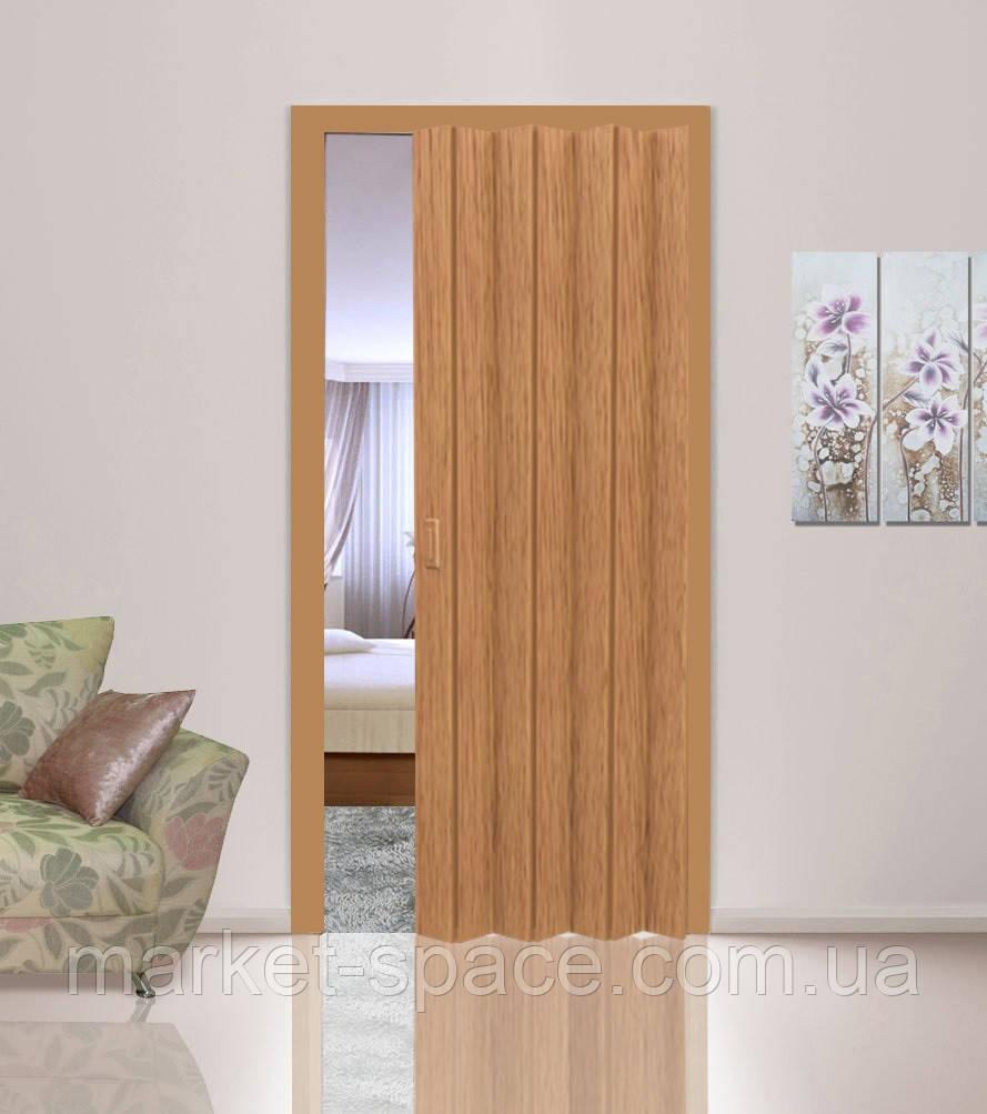 Дверь гармошкой глухая. Цвет: бук №503 2030мм/810мм/6мм