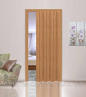 Дверь гармошкой глухая. Цвет: бук №503 2030мм/810мм/6мм, фото 2