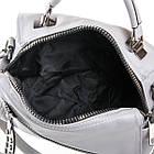 Клатч женский Fashion (25x18x13 см) grey, фото 4