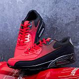 Кроссовки Ривал 90 Чорно Червоні ( чорна підошва), фото 3