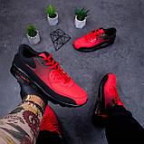 Кроссовки Ривал 90 Чорно Червоні ( чорна підошва), фото 2