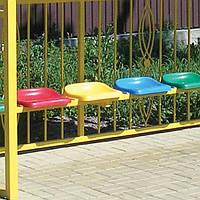 Антивандальные сиденья для автобусных остановок СТ-01 - желтые