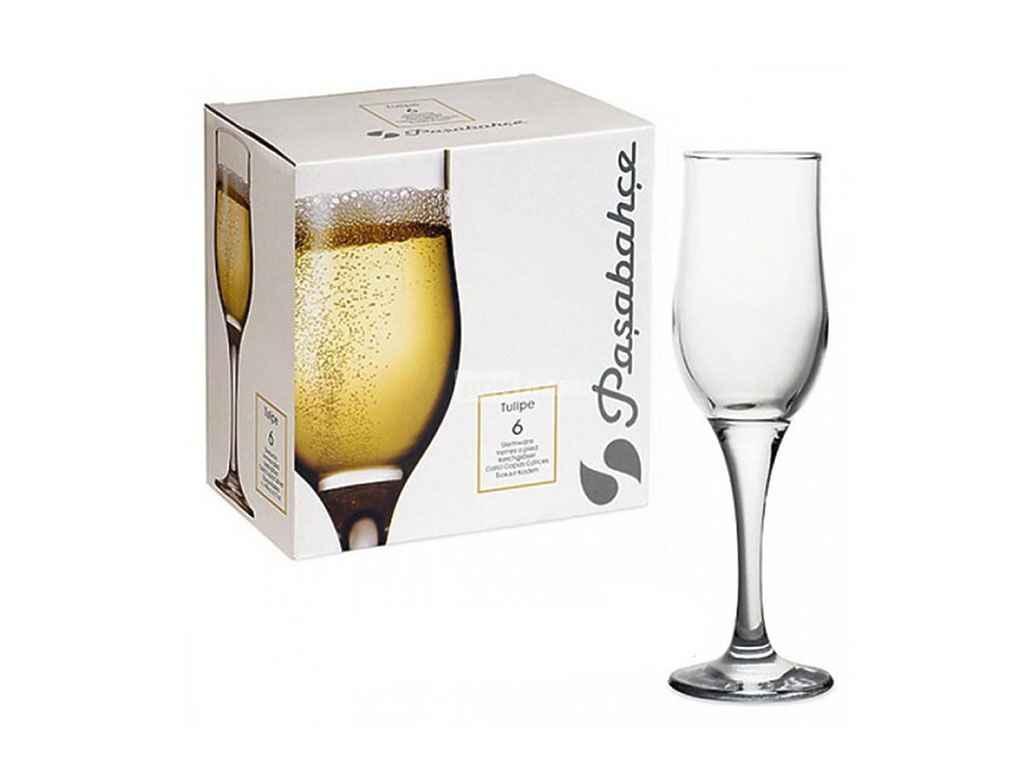 Набор бокалов для шампанского Pasabahce Tulipe 200 мл 12 шт (44160)