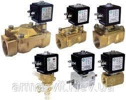 Клапаны электромагнитные  для воды, воздуха, пара