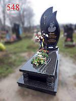 Пам'ятник у формі краплі з челновського граніту, фото 1