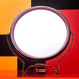 Зеркало косметическое круглое для бритья двустороннее с увеличением х2 на подставке TITANIA art.1500/MEN, фото 2
