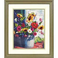 """Набір для вишивання гладдю """"Відро кольорів//Bucket of Flowers"""" DIMENSIONS 01534"""