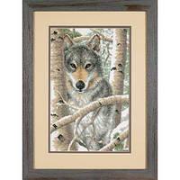 """Набір для вишивання хрестом """"Зимовий вовк//Wintry Wolf"""" DIMENSIONS 03228"""