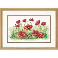 """Набір для вишивання хрестом """"Поле маків//Field of Poppies"""" DIMENSIONS 03237"""