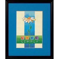 """Набір для вишивання хрестом """"Жити просто//Live Simply"""" DIMENSIONS 06975"""