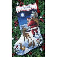 """Набір для вишивання хрестом """"Прибуття Санти//santa's Arrival Stocking"""" DIMENSIONS 08683"""