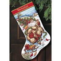 """Набір для вишивання хрестом """"Подорож Санти//santa's Journey Stocking"""" DIMENSIONS 08752"""