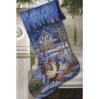 """Набір для вишивання хрестом """"Різдвяне веселощі//Christmas Eve Fun Stocking"""" DIMENSIONS 08805"""