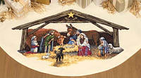 """Набор для вышивания крестом """"Место Рождества//Nativity Scene Tree Skirt"""" DIMENSIONS 08814"""