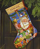 """Набір для вишивання хрестом """"Іграшки Санти//santa's Toys Stocking"""" DIMENSIONS 08818"""