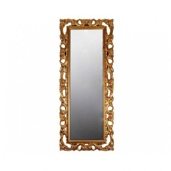 Зеркало настенное в спальню, в прихожую Лара 750х1800 MR-80-GL MiroMark золотистый