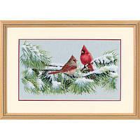 """Набір для вишивання хрестом """"Зимові кардинали//Winter Cardinals"""" DIMENSIONS 35178"""