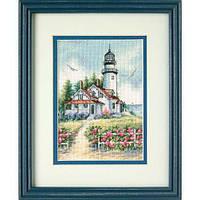 """Набір для вишивання хрестом """"Мальовничий маяк//Scenic Lighthouse"""" DIMENSIONS 65057"""