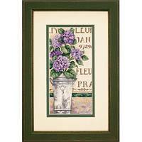 """Набір для вишивання хрестом """"Гортензія//Hydrangea Floral"""" DIMENSIONS 65092"""