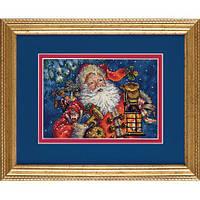 """Набір для вишивання хрестом """"Нічний Санта//Nighttime Santa"""" DIMENSIONS 70-08865"""