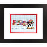 """Набір для вишивання хрестом """"Різдвяний пінгвін//Christmas Penguin"""" DIMENSIONS 70-08950"""
