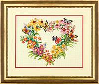 """Набір для вишивання хрестом """"Вінок з польових квітів//Wildflower Wreath"""" DIMENSIONS 70-35336"""