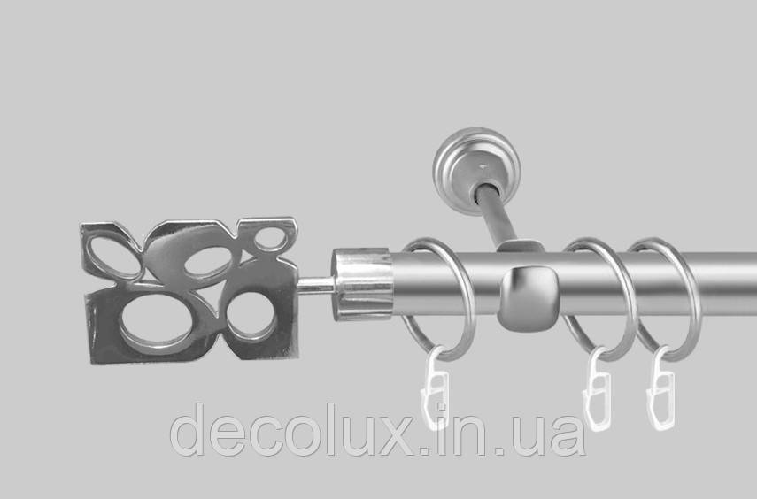 Карниз для штор однорядный металлический 19 мм, Бисетте Сатин