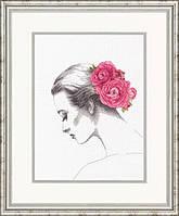"""Набор для вышивания крестом """"Цветочный портрет//Floral Portrait"""" DIMENSIONS 70-35379"""