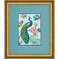 """Набір для вишивання хрестом """"Блакитний павич//Blue Peacock"""" DIMENSIONS 70-65146"""