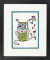 """Набір для вишивання хрестом """"Квітуча сова//Blooming owl"""" DIMENSIONS 70-65163"""