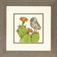 """Набір для вишивання хрестом """"Колючий сова//Prickly Owl"""" DIMENSIONS 70-65184"""