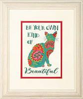 """Набір для вишивання хрестом """"Пейслі кішка//Paisley Cat"""" DIMENSIONS 70-65190"""