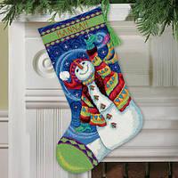 """Набір для вишивання гобеленом """"Щасливий сніговик//Happy Snowman"""" DIMENSIONS 71-09143"""