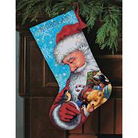 """Набір для вишивання гобеленом """"Санта та іграшки//Santa and Toys Stocking"""" DIMENSIONS 71-09145"""