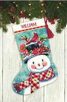 """Набор для вышивания гобеленом """"Снеговик//Seasonal Snowman"""" DIMENSIONS 71-09159"""