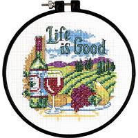 """Набор для вышивания крестом """"Жизнь хороша//Life is Good"""" DIMENSIONS 72-73545"""