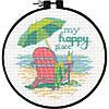"""Набір для вишивання хрестом """"Моє щасливе місце//My Happy Place"""" DIMENSIONS 72-75678"""