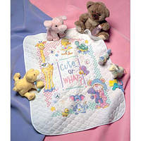 "Набір для вишивання хрестом ""Милі... Чи як?//Cute...Or What? Baby Quilt"" DIMENSIONS 72724"