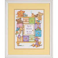 """Набір для вишивання хрестом """"Дитячі коробки//Baby Drawers Birth Record"""" DIMENSIONS 73538"""