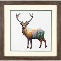 """Набір для вишивання хрестом """"Deer Scene//Краєвид з оленем"""" DIMENSIONS 70-35387"""