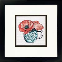 """Набір для вишивання гобеленом """"Floral Teacup//Квіткова чашка"""" DIMENSIONS 71-07247"""