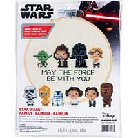 """Набір для вишивання хрестом """"Star Wars Family//Сім'я Зоряні війни"""" DIMENSIONS 72-76143"""
