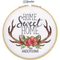 """Набір для вишивання хрестом """"Home Sweet Home//Дім, милий дім"""" DIMENSIONS 72-75984"""