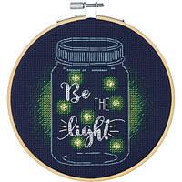 """Набір для вишивання хрестом """"Be the Light//Будь світлом"""" DIMENSIONS 72-75982"""